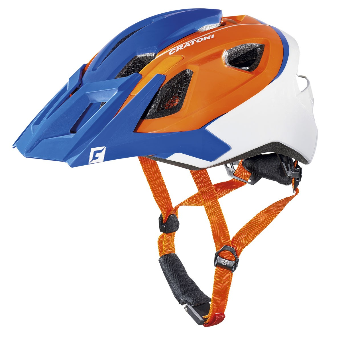 Casco MTB All ride azul/naranjo Cratoni